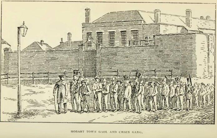 Hobart-Town-Gaol-in-History-of-Australian-Bushranging-by-Charles-White